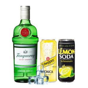 Tanqueary, lemon e tonica